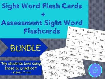 Flash Cards! Great way to have students practice reading their sight words. Numbers are included for each sight word. You can also tie in some math. Have students practice even numbers or odd numbers. You could even give them a list of numbers to practice writing sentences with those words.