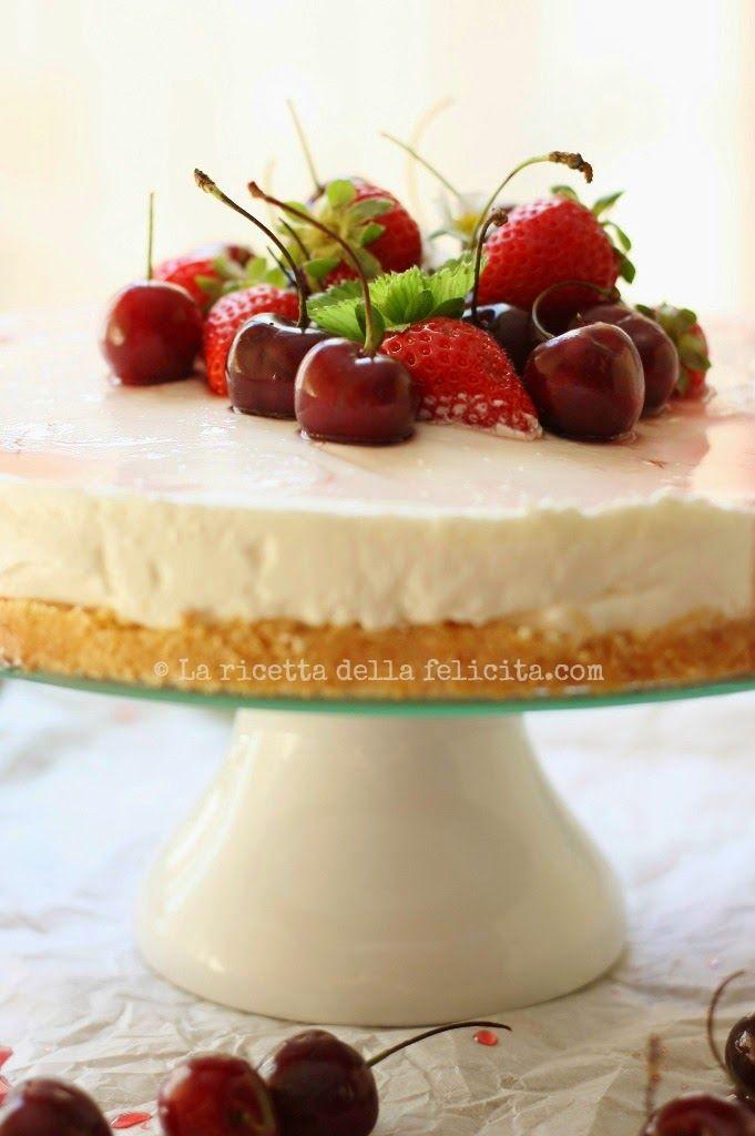 La ricetta della felicità: Torta freschissima allo yogurt e frutti rossi, sen...