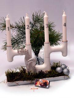 Czy naklejkę można umieścić na świecy? Czyli pomysł na świecznik adwentowy.