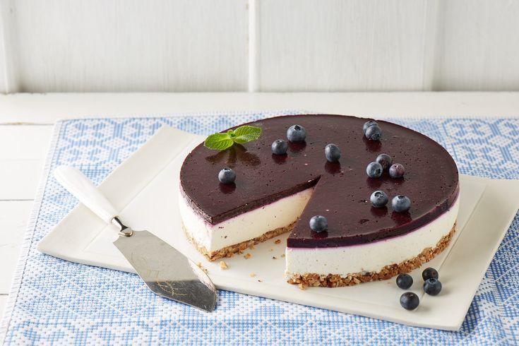 Blueberry Cheesecake mit Crunchy-Boden