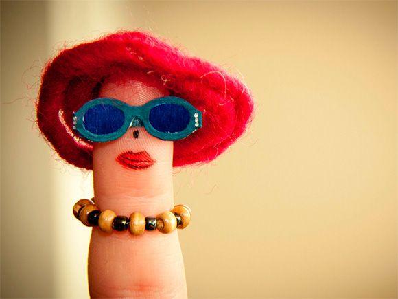 Finger Art  #funny #fingerpeople #fingerart
