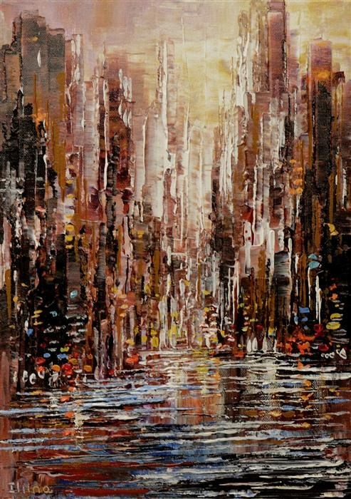 Love this acrylic painting from Ugallery. Streets of Heaven by Tatiana Iliina.