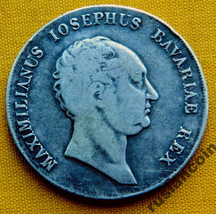 Талер 1816 Бавария Максимилиан Иосиф Меч СЕРЕБРО Silver Thaler Bavarie Maximilianus 1816