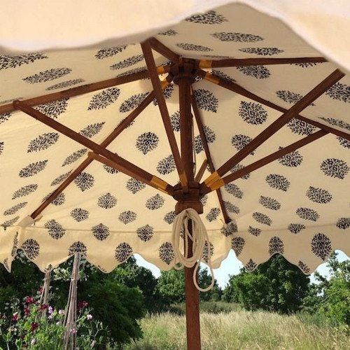 Buy Garden Parasol Kiki Booti Mediterranean Blue  by Titania - Quick Ship designer Accessories from Dering Hall's collection of Transitional Miscellaneous.