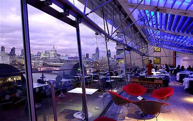 OXO Tower Restaurant - my favourite restaurant/bar near London Bridge, over looking London 'with that view'.