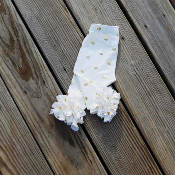 Double ruffle Gold dot icings baby dotted by SweetWhitePeony