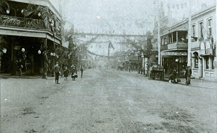 Centenary celebrations, Hunter and Bolton Streets Newcastle, NSW, 16 September 1897   by UON Library,University of Newcastle, Australia