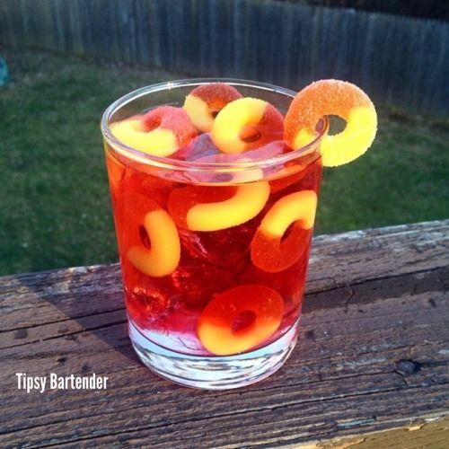 Peach Ring Drink Tipsy Bartender