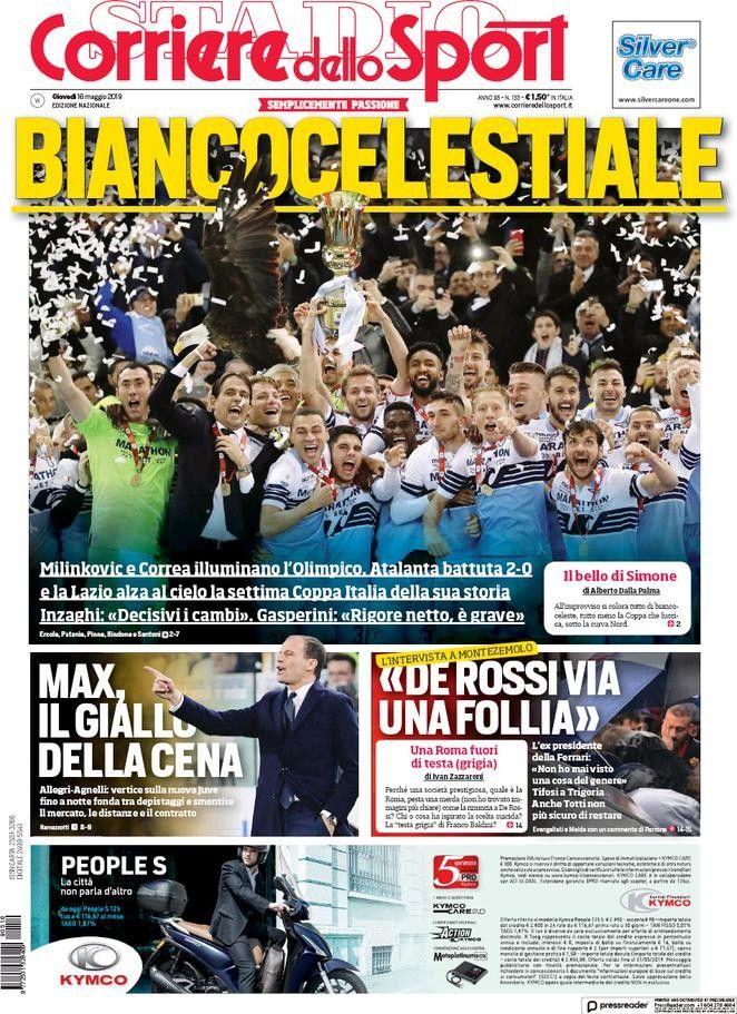 Corriere dello Sport (16 de mayo de 2019) Portadas de