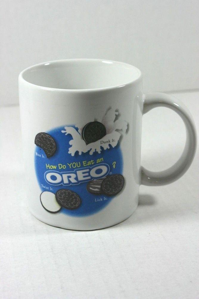OREO Nabisco Brands Cookies Tea Coffee Cocoa Collectible Mug Cup How do YOU Eat? #Nabisco
