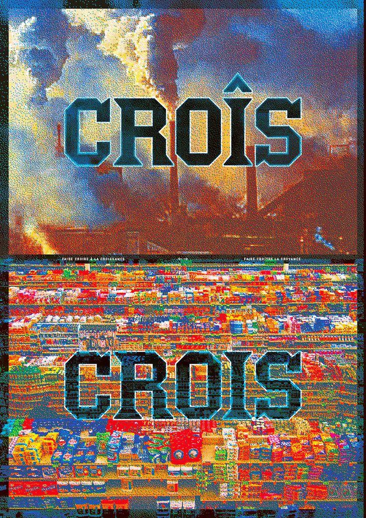 """Sébastien Marchal - """"Croîs / Crois"""" - Affiche - 2015"""