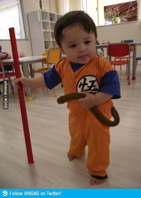 dbz.... I will dress my child up like this if I ever have one.
