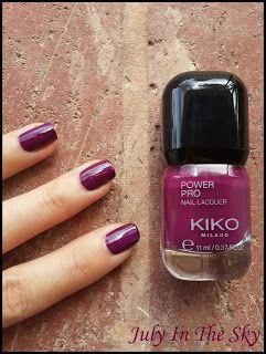 July In The Sky, mon blog Beauté, Mode et Lifestyle: Les vernis à ongles Power Pro Nail Lacquer de Kiko ! 20 - Cyclamen