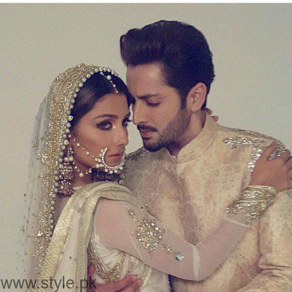 See Ayeza Khan and Danish Taimoor's Photoshoot for Mansoor Akram Couture