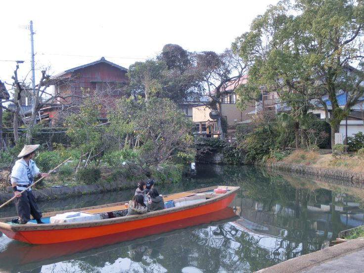 River cruise in yanagawa, fukuoka, japan 柳川の川下り