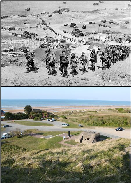 The Colleville Draw leading off Omaha Beach – © Ian R Gumm, 2014