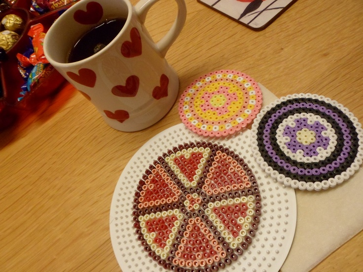 Use hamma beads (or equivalent) to make a coaster. Get a circle base and choose any size or pattern you want, then simply iron the design under greaseproof paper and peel off the base