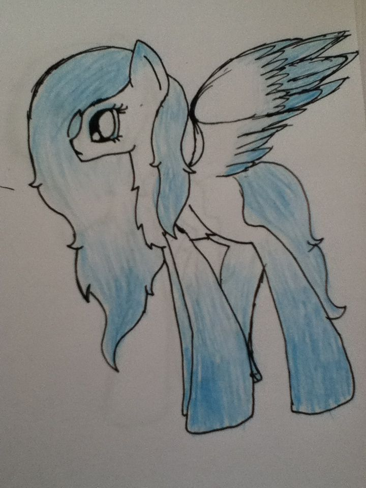 This is my new oc Snow Crystal.plz like and comment what you think