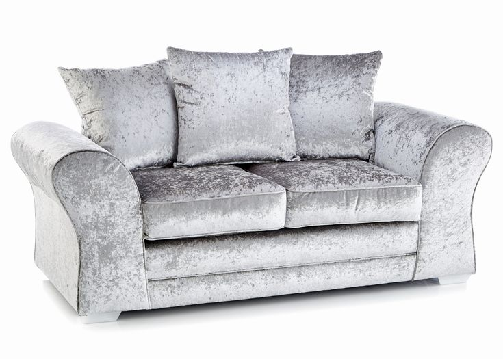 The 25 best Silver velvet sofa ideas on Pinterest