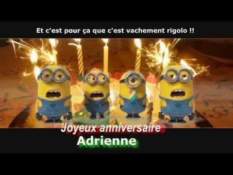 MINIONS - Joyeux anniversaire personnalisé - (Abdel) - YouTube