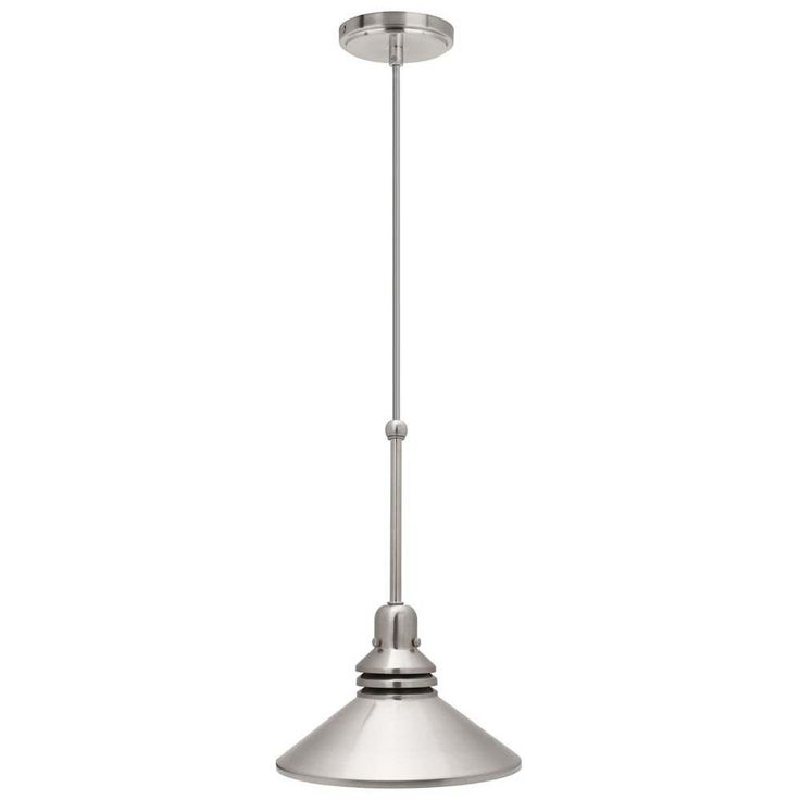 Hampton Bay 1-Light 86 in. Brushed Nickel Pendant Track Lighting Fixture-17100 - The Home Depot
