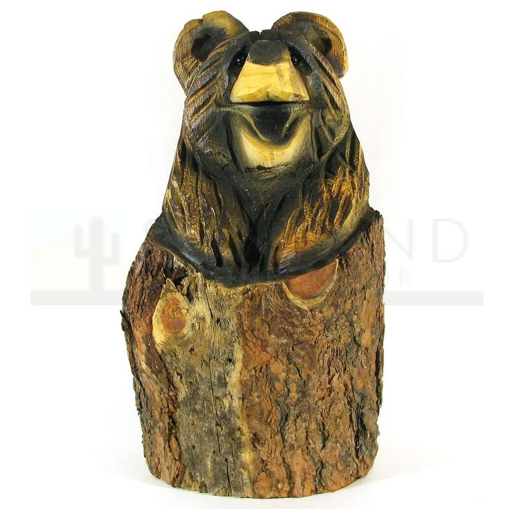 Sunland Home Decor: Chainsaw Carving - 20in Brown Bear