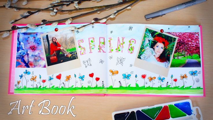 DIY: Оформление артбука ♥ Идеи для личного дневника, блокнота, скетчбука...