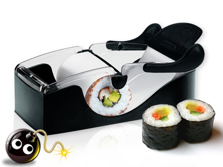 I have never learned how to do sushi so I'm not sure if they really use a machine like this… input? Hello, anyone??  :)