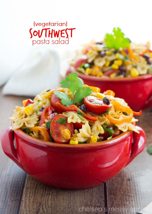 {Vegetarian} 30-minute Southwest Pasta Salad