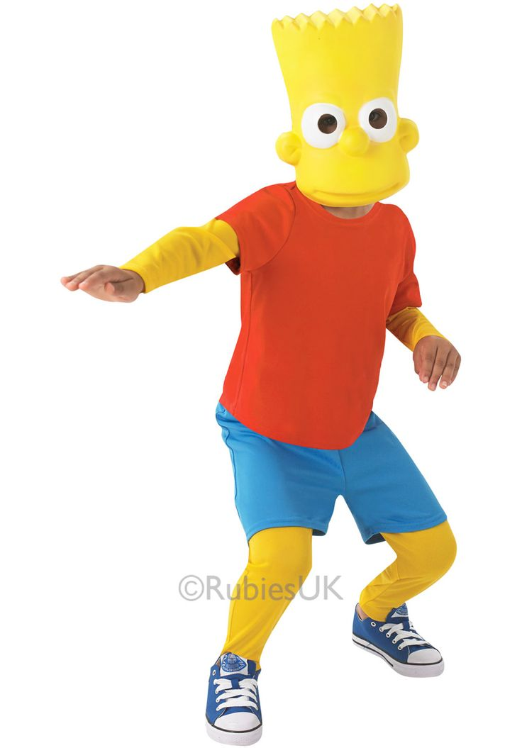 kids bart simpson costume simpsons fancy dress general kids costumes at escapade uk - Simpson Halloween Costume