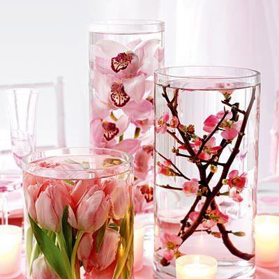 Cherries Blossoms, Ideas, Dollar Stores, Silk Flowers, Bridal Shower, Centerpieces, Diy Wedding, Cherry Blossoms, Center Pieces