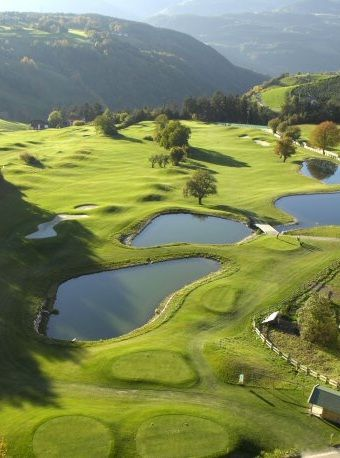 Green Fairways. Golf landscapes are beautiful.