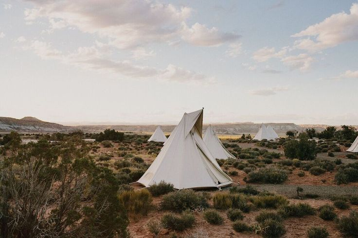 Camping Tent Rental - Under Canvas tipis looking stunning in the desert // photo credit James Moes