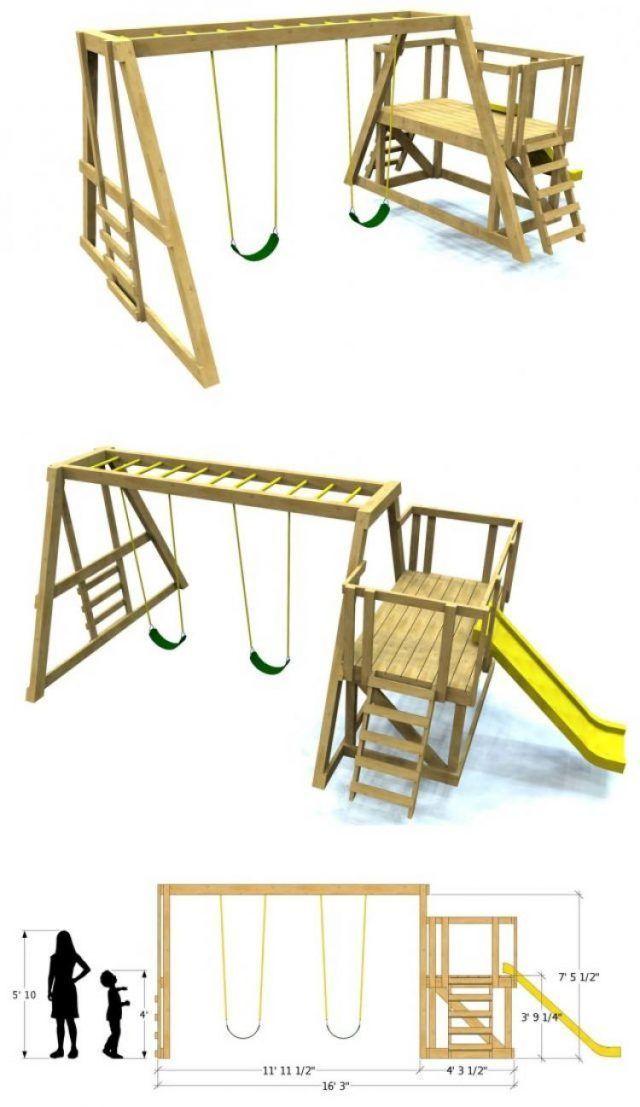 35 Beautiful Diy Playground Ideas To Make Your Kids Happy Ideas Page 21 Of 35 Swing Set Diy Backyard Swing Sets Swing Set Plans