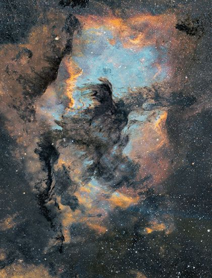 Astro Anarchy: An experimental 3D-study of North America and the Pelican Nebulae copyrighted to J-P Metsavainio