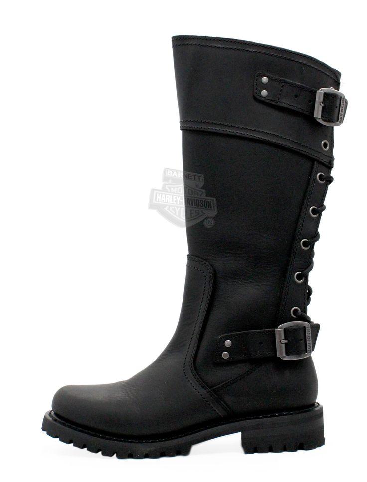 Harley-Davidson® Womens Alexa Black High Cut Riding Boot - H-D® Dealer Exclusive 85167
