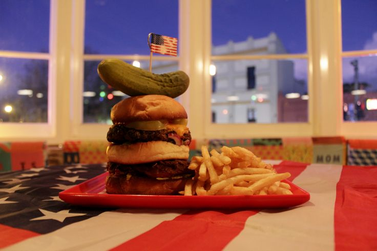 The Liberty Burger with Freedom Fries