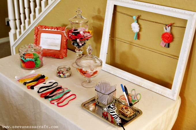 Headband Making Station - Baby Shower Activity, <3 this idea! How special would that be for baby girl A!