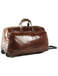 Rivello Genuine Italian Leather Rolling Bag, Hand Luggage / Overnight Bag, Available in Cabin Size and Weekend Case£319.99@amazon  #madeInItaly