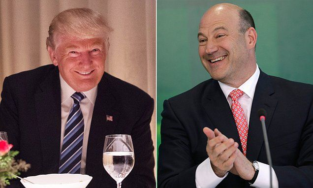 WASHINGTON DC Now Trump is considering Goldman Sachs president Gary Cohn for top administration job – after selecting Treasury pick with 17 years at the firm | Daily Mail Online