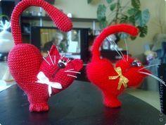Игрушка Мастер-класс Валентинов день Вязание крючком к дню Святого Валентина Пряжа фото 1