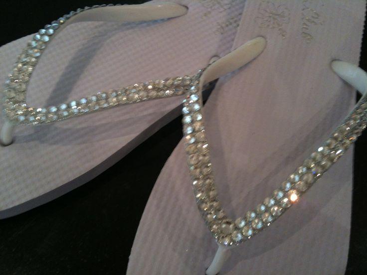 Bridal flip flops , for dancing the night away !!!