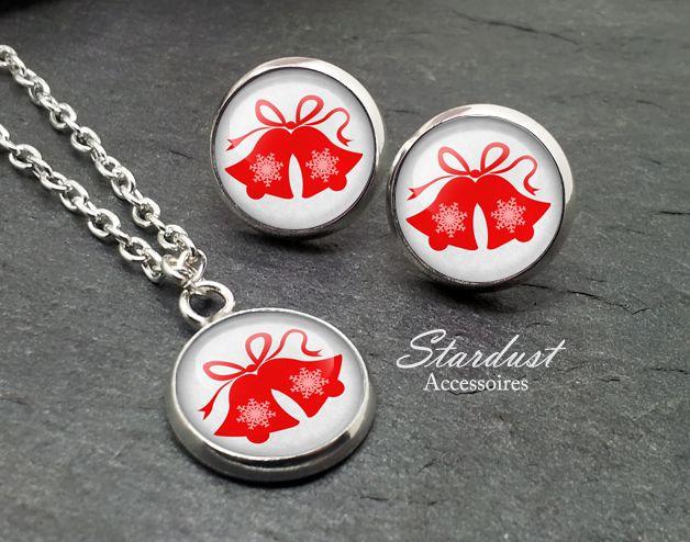Schmuckset silber ❅ Weihnachtsglocken grau ❅ von Stardust Accessoires auf DaWanda.com