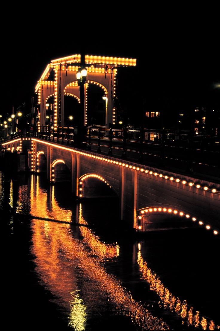 The Skinny Bridge in Amsterdam