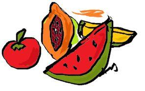 Tomato mask, Papaya mask, Watermelon or melon mask