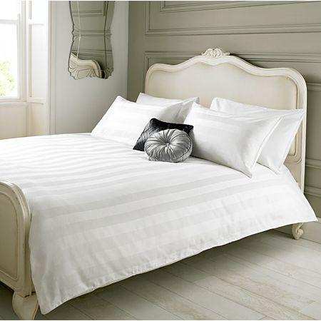 White Damask Stripe Duvet Set Asda Bedroom