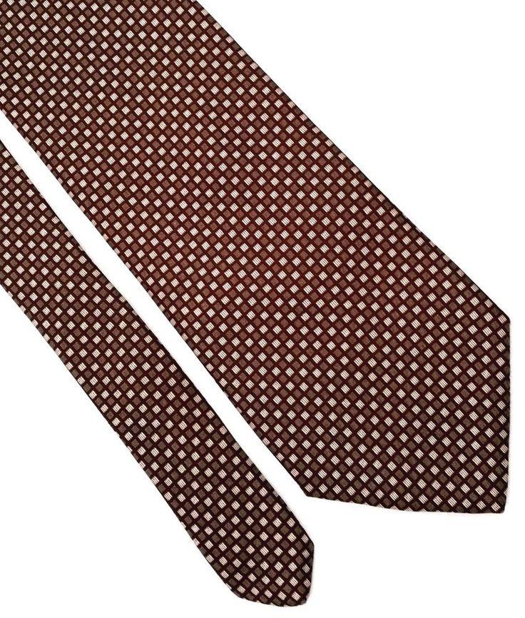 Brooks Brothers Makers Men's Silk Maroon Khaki Beige Plaid Neck Tie 58L 3,75W #BrooksBrothers #Tie