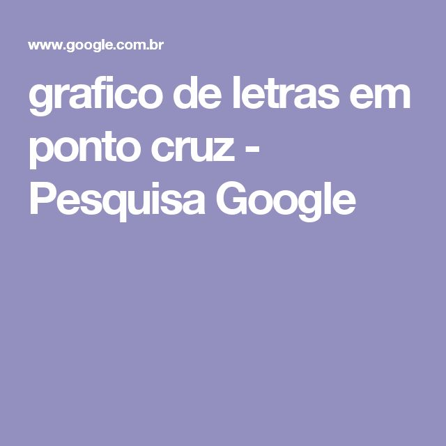grafico de letras em ponto cruz - Pesquisa Google