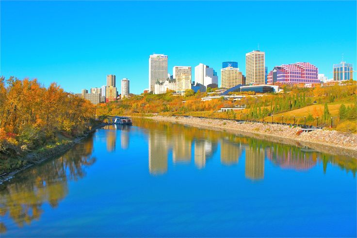 Edmonton has the greatest amount of inner city green space in North America...that's one of the MANY things that makes our city so damn special!!  www.iheartedmonton,org