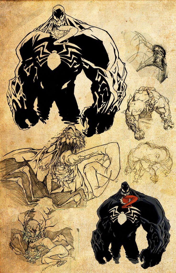 Skottie Young Sketches Of Venom